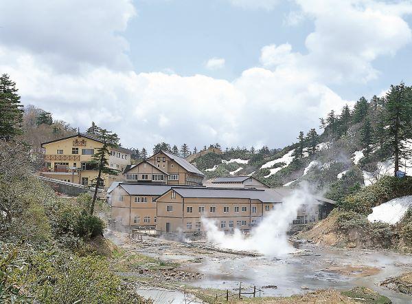 Goshogake Hot Spring Hotel Goshogake Nature Observation Trail Hachimantai Iwate Japan