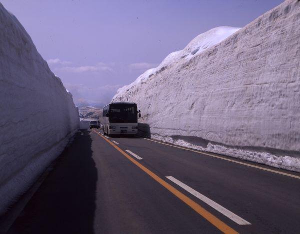 Hachimantai Aspite Line Snow Corridor Iwate Japan