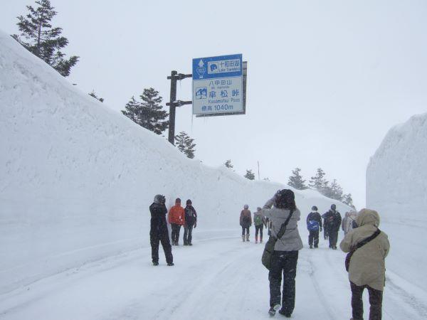 Hakkoda Snow Corridor Aomori Japan