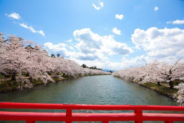 Hirosaki-Park-Moat-Aomori-Japan