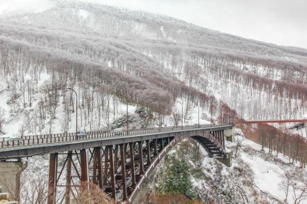 Jogakura Bridge Aomori Japan Winter
