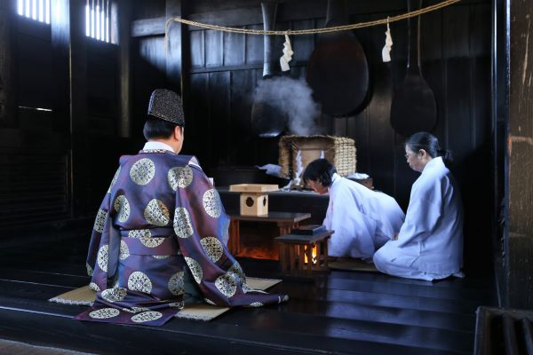 Kibitsu Shrine Narukama Shinji Ritual Okayama Japan