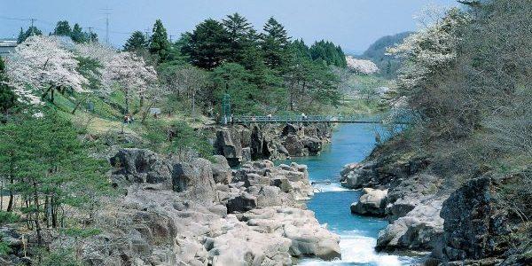 Goranba-Bridge-Genbikei-Gorge-Iwate-Japan