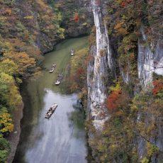 Geibikei-Gorge-Autumn-Iwate-Japan